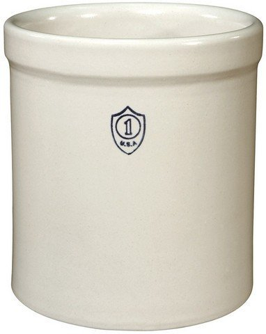 1 gallon stoneware crock for utensils, flowers, wastebasket and more
