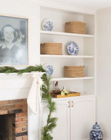 fireplace mantel to update a dated brick fireplace