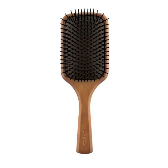 wood paddle hair brush