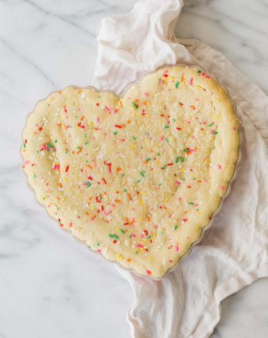 This easy birthday cake recipe feels festive without a lot of effort. Funfetti cookie cake is always a crowd pleaser and made with just staple ingredients!