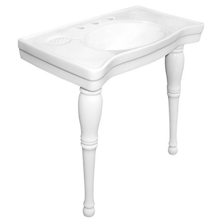 wall mount sink with pedestal legs in parisian style