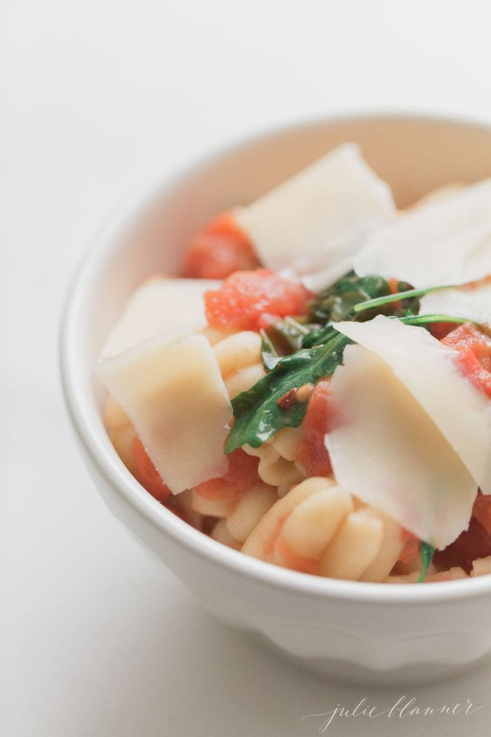 lighten up after new years with pasta pomodoro