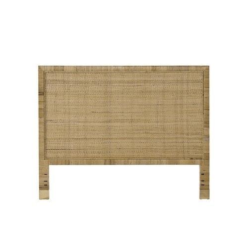 woven natural rattan headboard