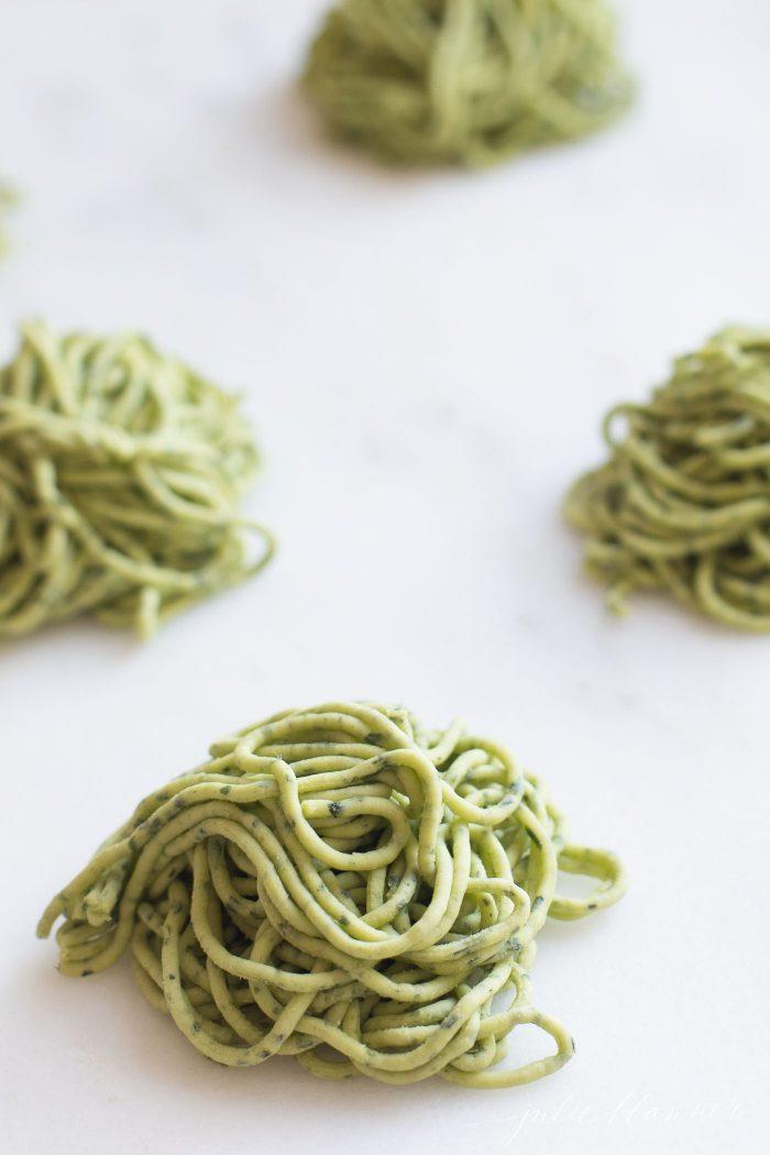 arugula noodles recipe to sneak in greens