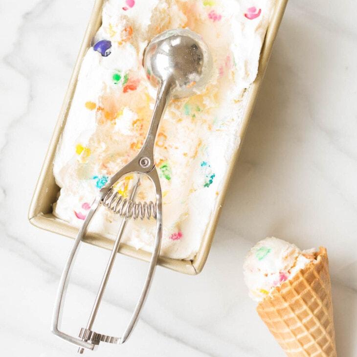 easy no churn bubble gum ice cream