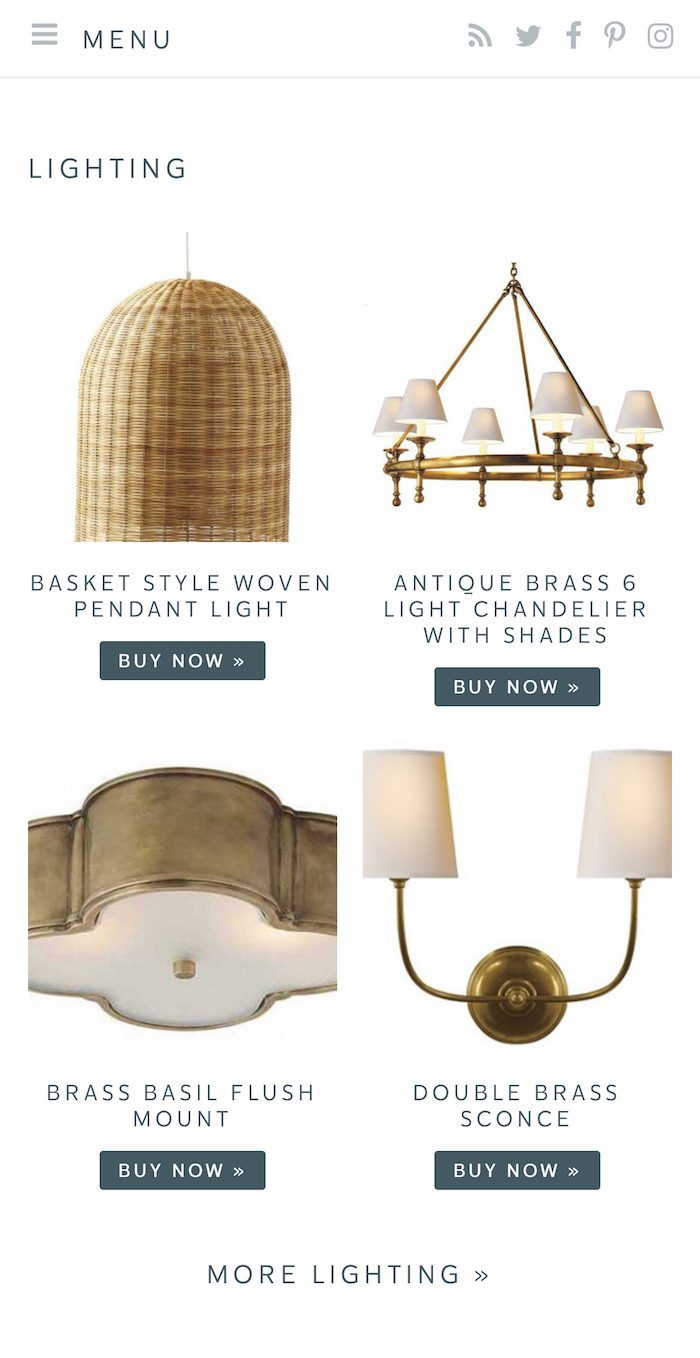 shop lifestyle blogger julie blanner's favorite lighting