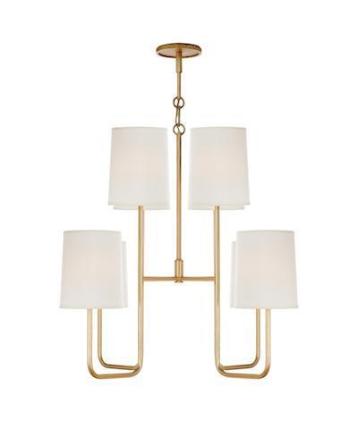 modern gilded chandelier