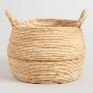 large round storage basket