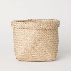 large natural seagrass basket