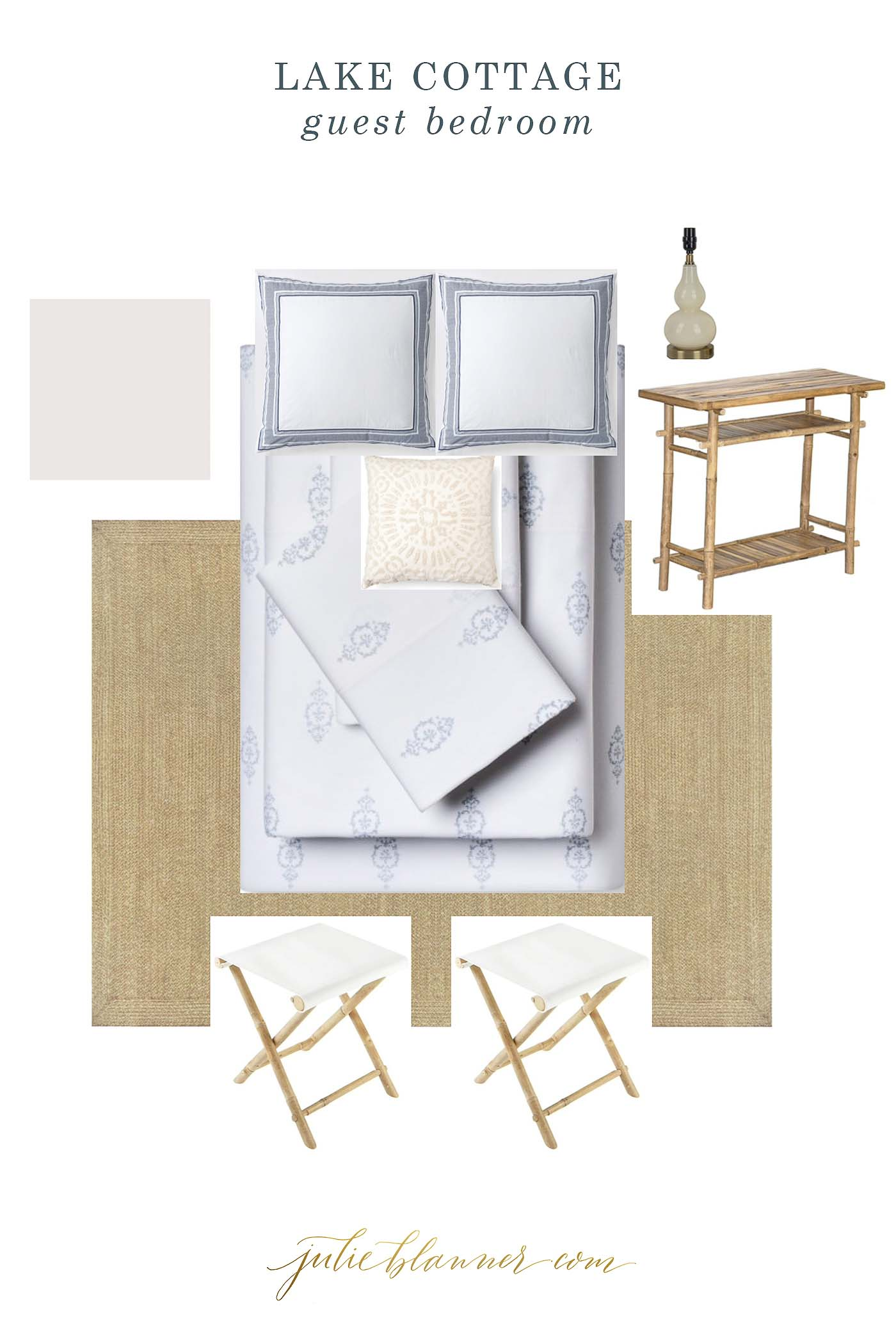 Tutorial of how to make a mood board for a modern bedroom