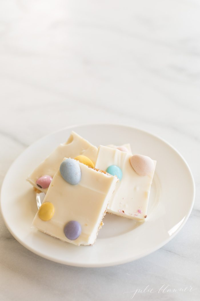 white chocolate saltine toffee