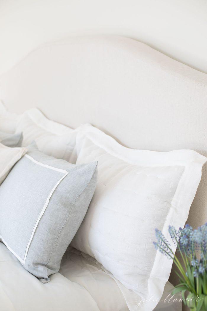 luxury linen bedding