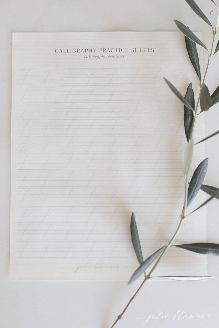 calligraphy paper practice grid