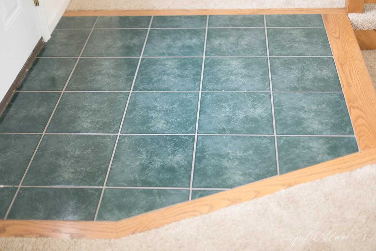 green dated tile