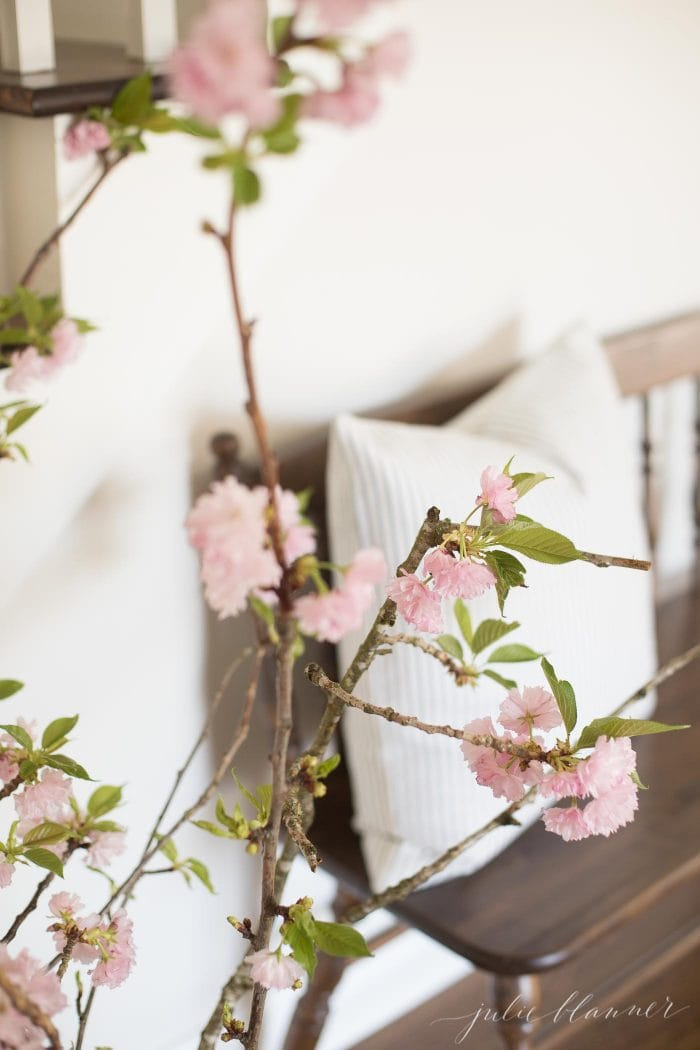 decorating with cherry blossom branches