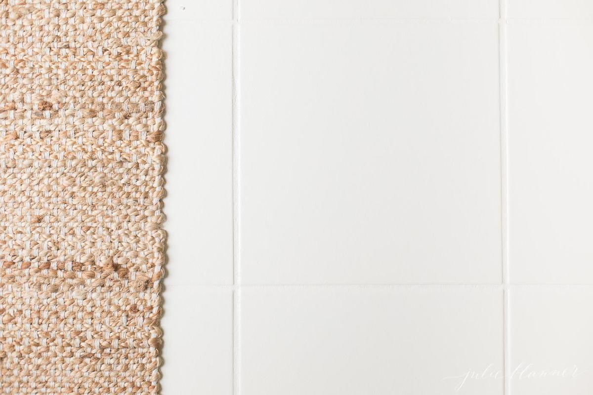 white floor tile paint