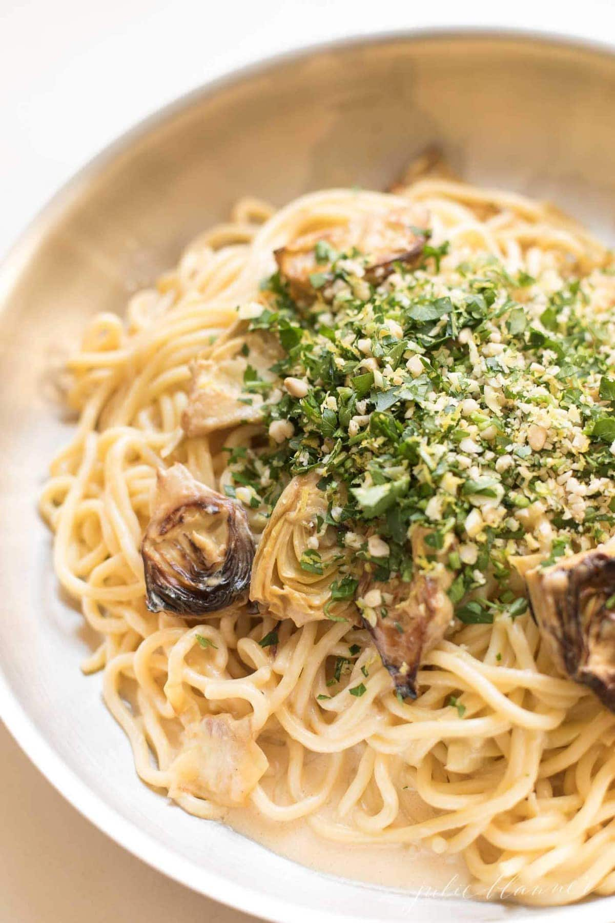 lemon butter pasta with gremolata