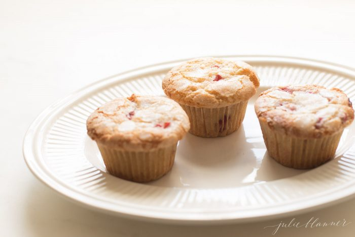 strawberry muffins with sugar on top