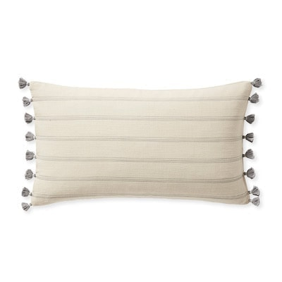 stripe pillow with tassels