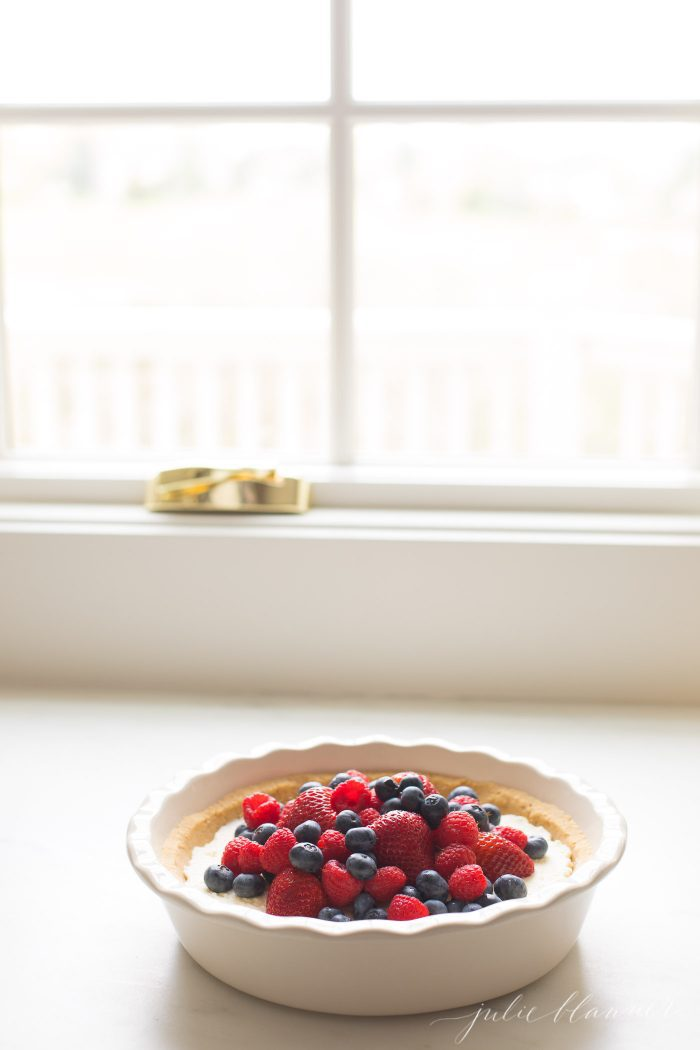 lemon pie with fruit