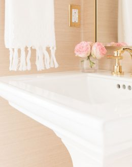 modern bathroom with pedestal sink