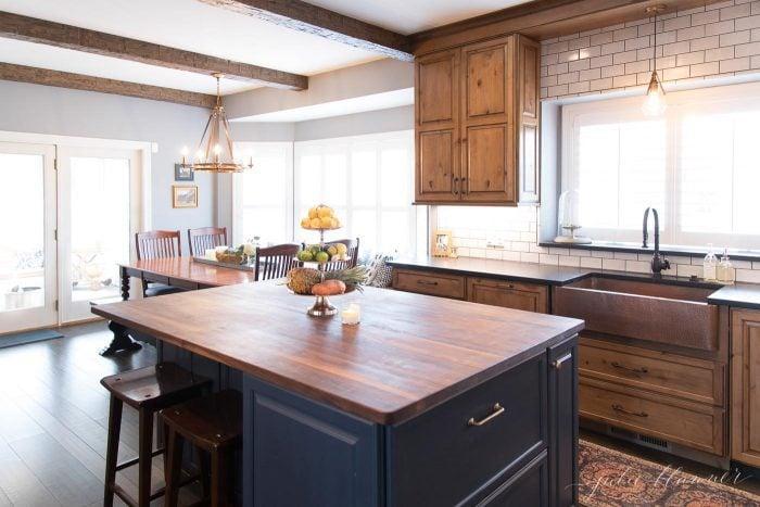 blue island wood cabinets