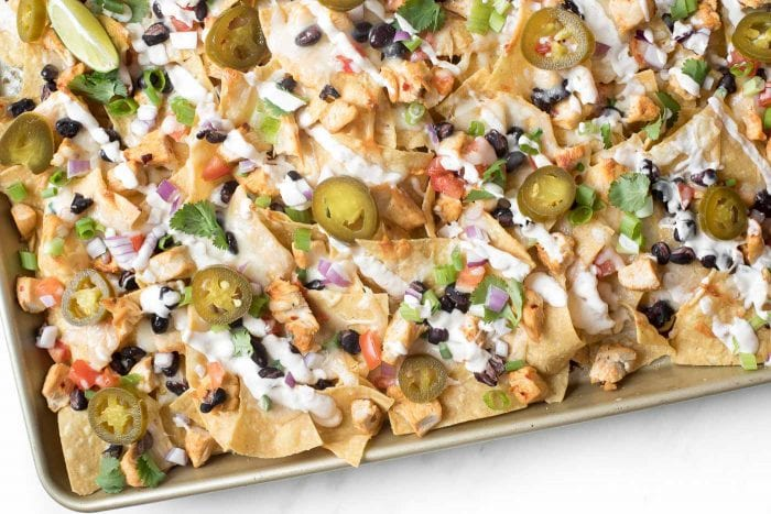 chicken nachos in the oven