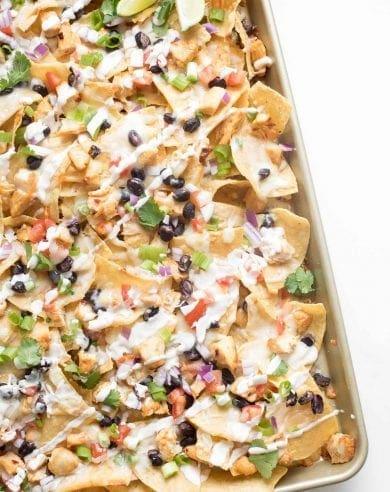 baked chicken nachos