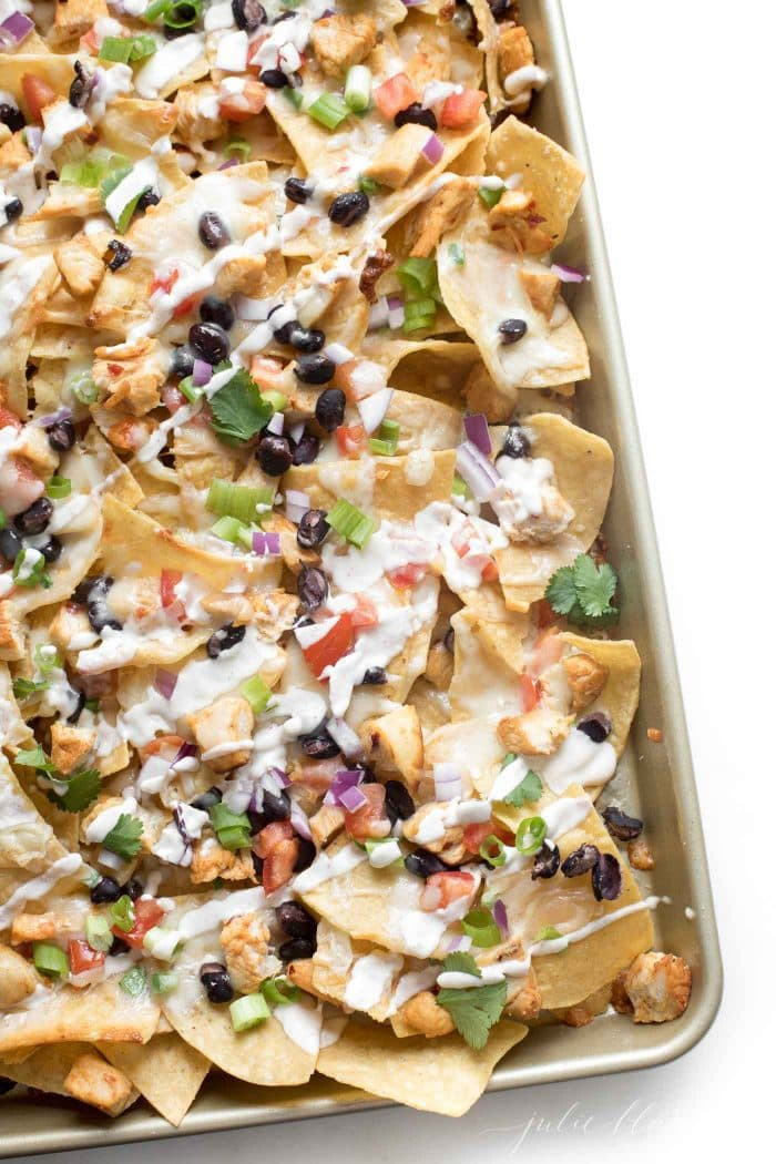 how to make chicken nachos
