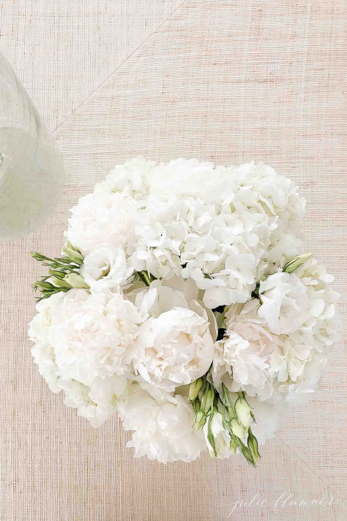 Learn how to make hydrangea centerpieces with a step by