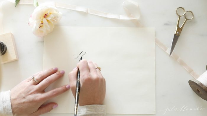 how to calligraphy