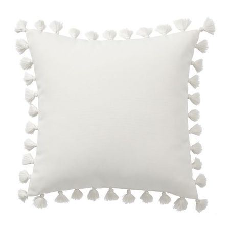outdoor tassel pillow
