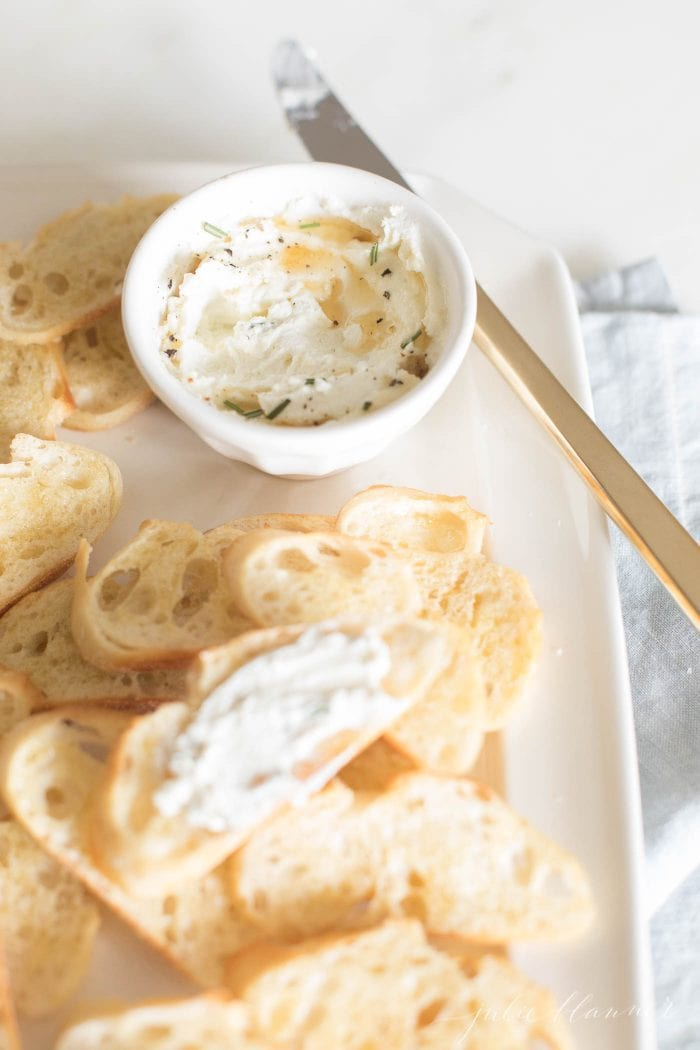 whipped goat cheese spread