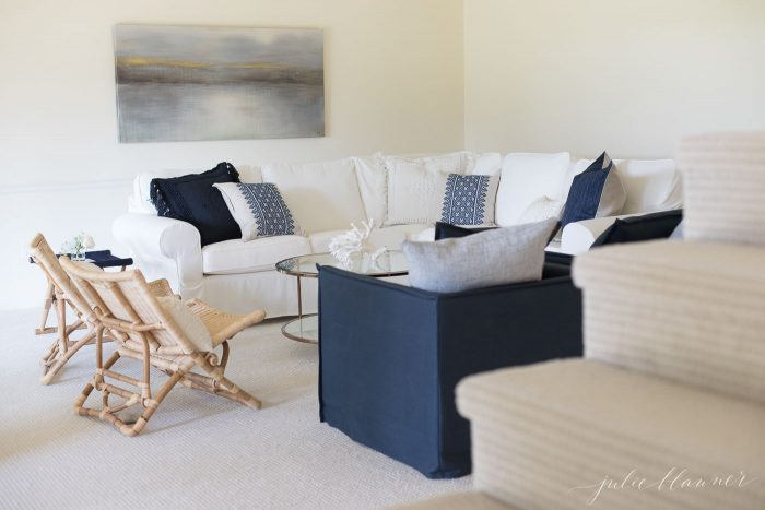 Charmant With The Foundation Laid {carpet}, It Was Time To Layer U2013 With Furniture! Modern  Living Room Chairs