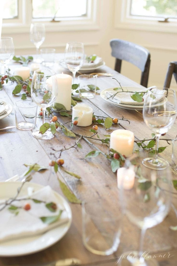 Branch and Candle Centerpiece