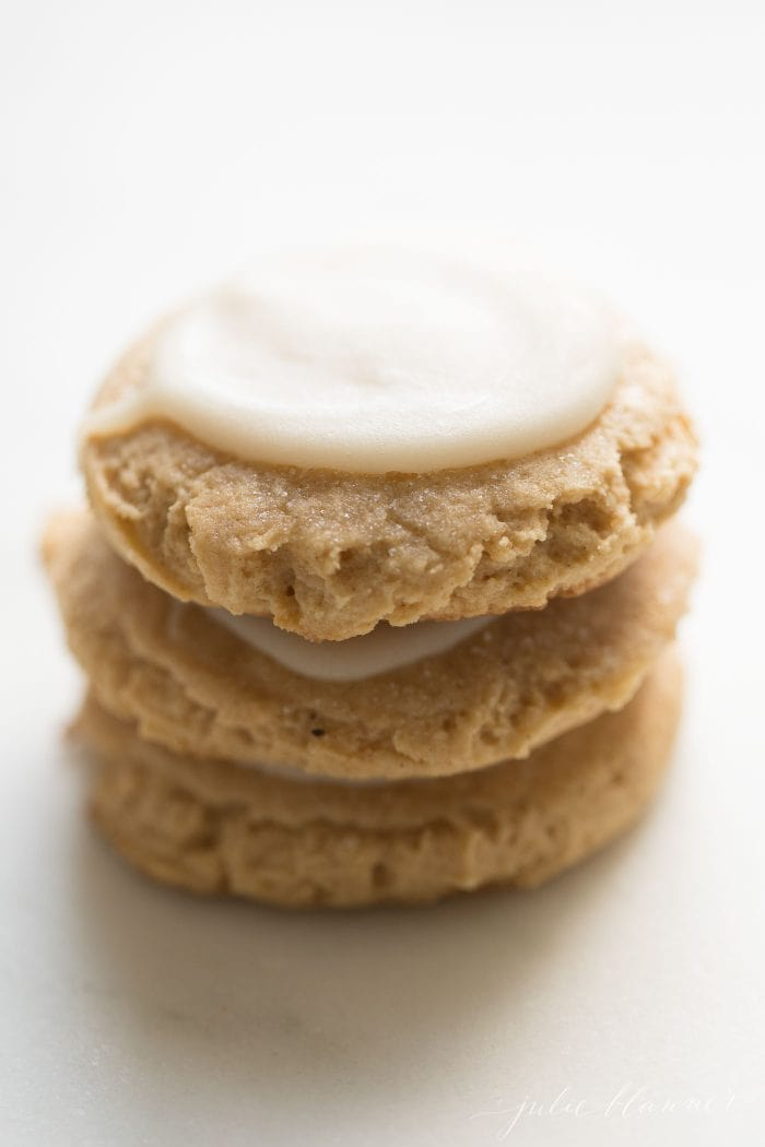 stack of pumpkin cookies