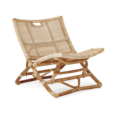 folding indoor outdoor rattan chair