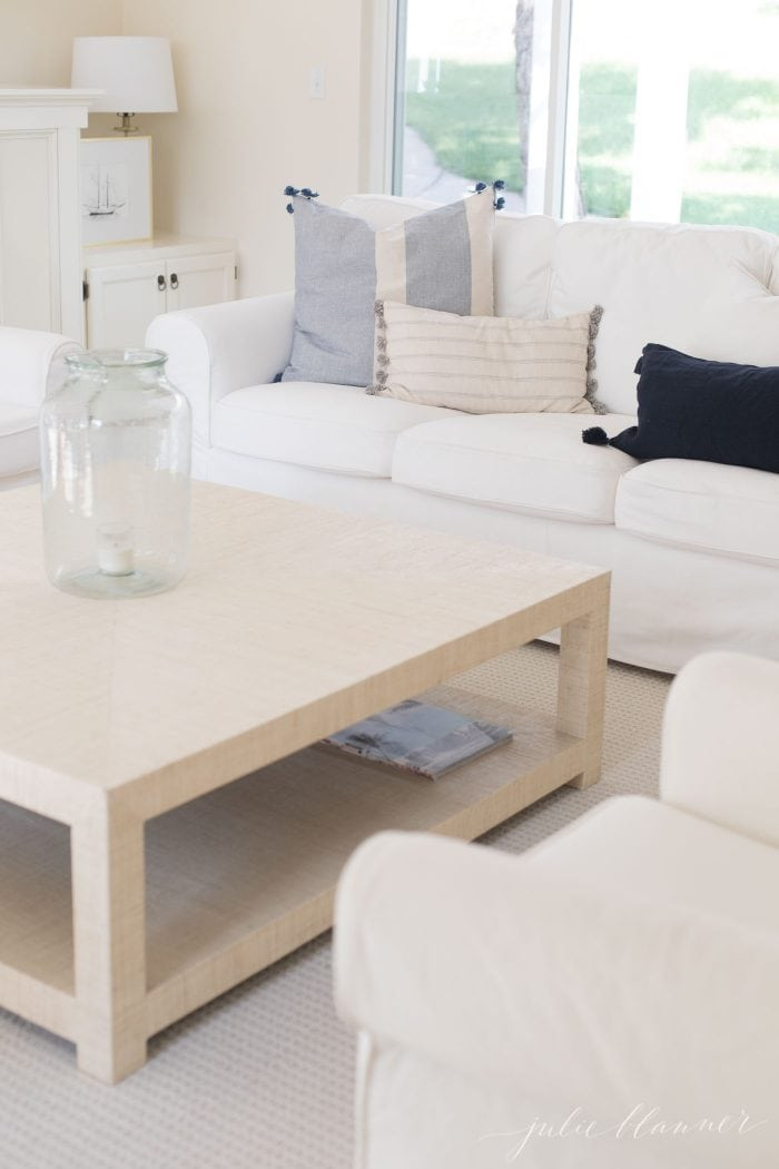 living room seating and coffee table