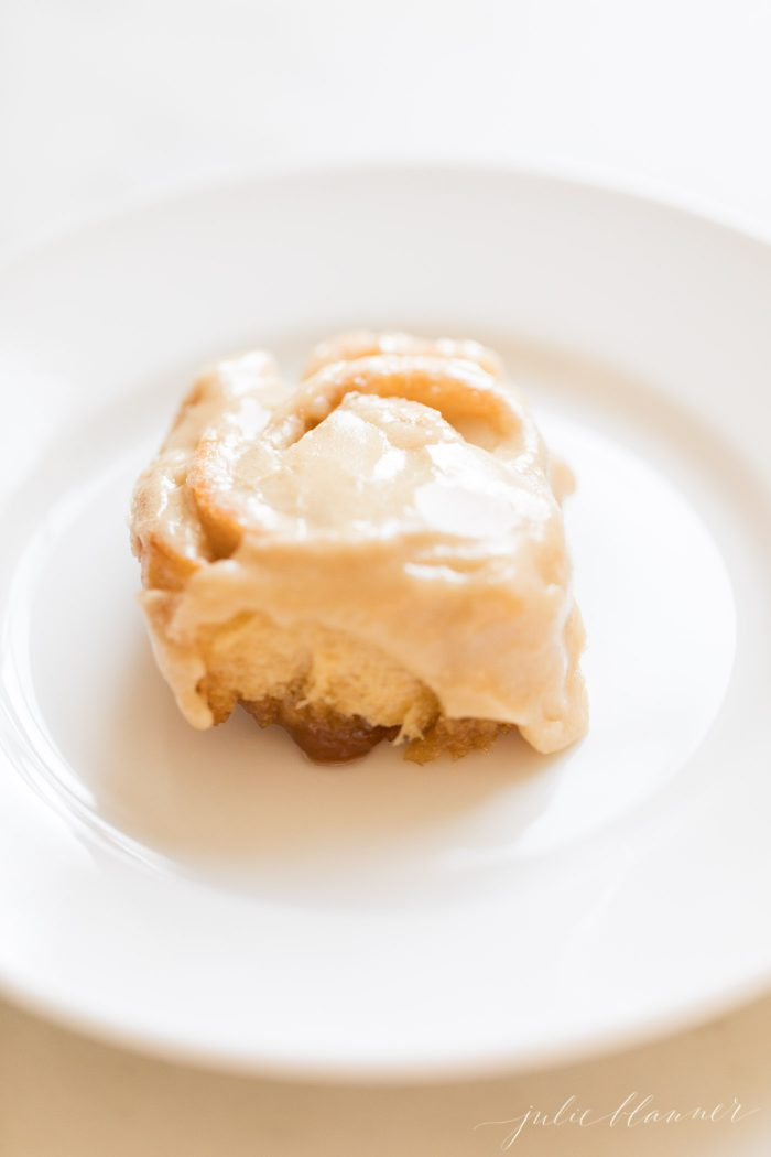 classic caramel roll with caramel frosting