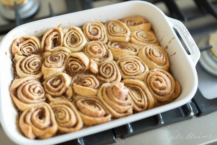 The baked pecan rolls