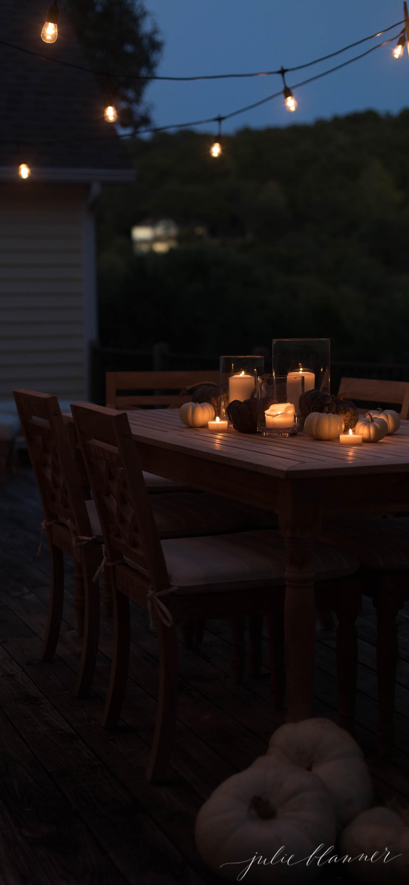 bulb lights on deck