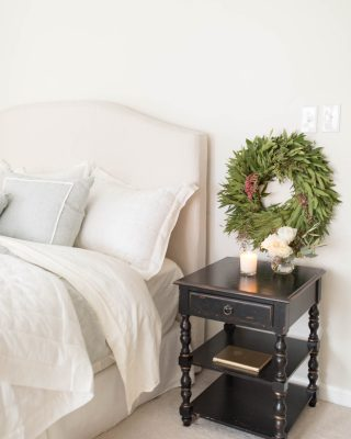 wreaths in christmas bedroom