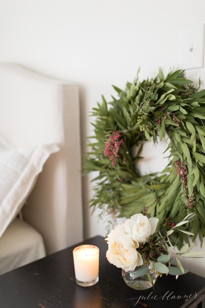 christmas bedrooom wreath