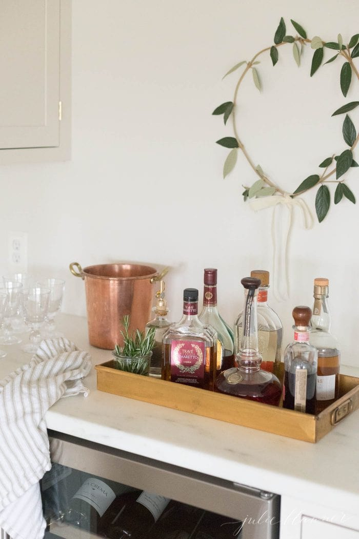 diy christmas wreath bar