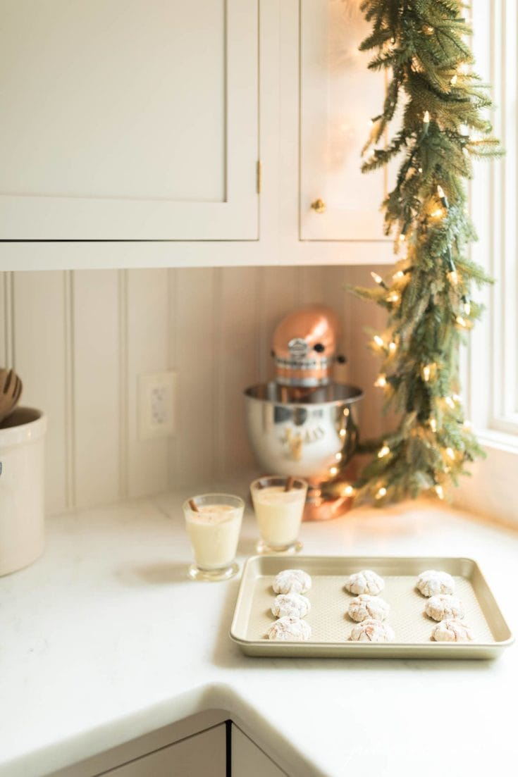 Gooey Butter Eggnog Cookies