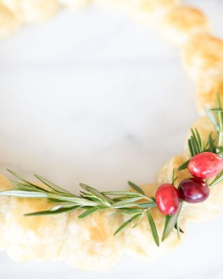 festive christmas appetizers with puff pastry