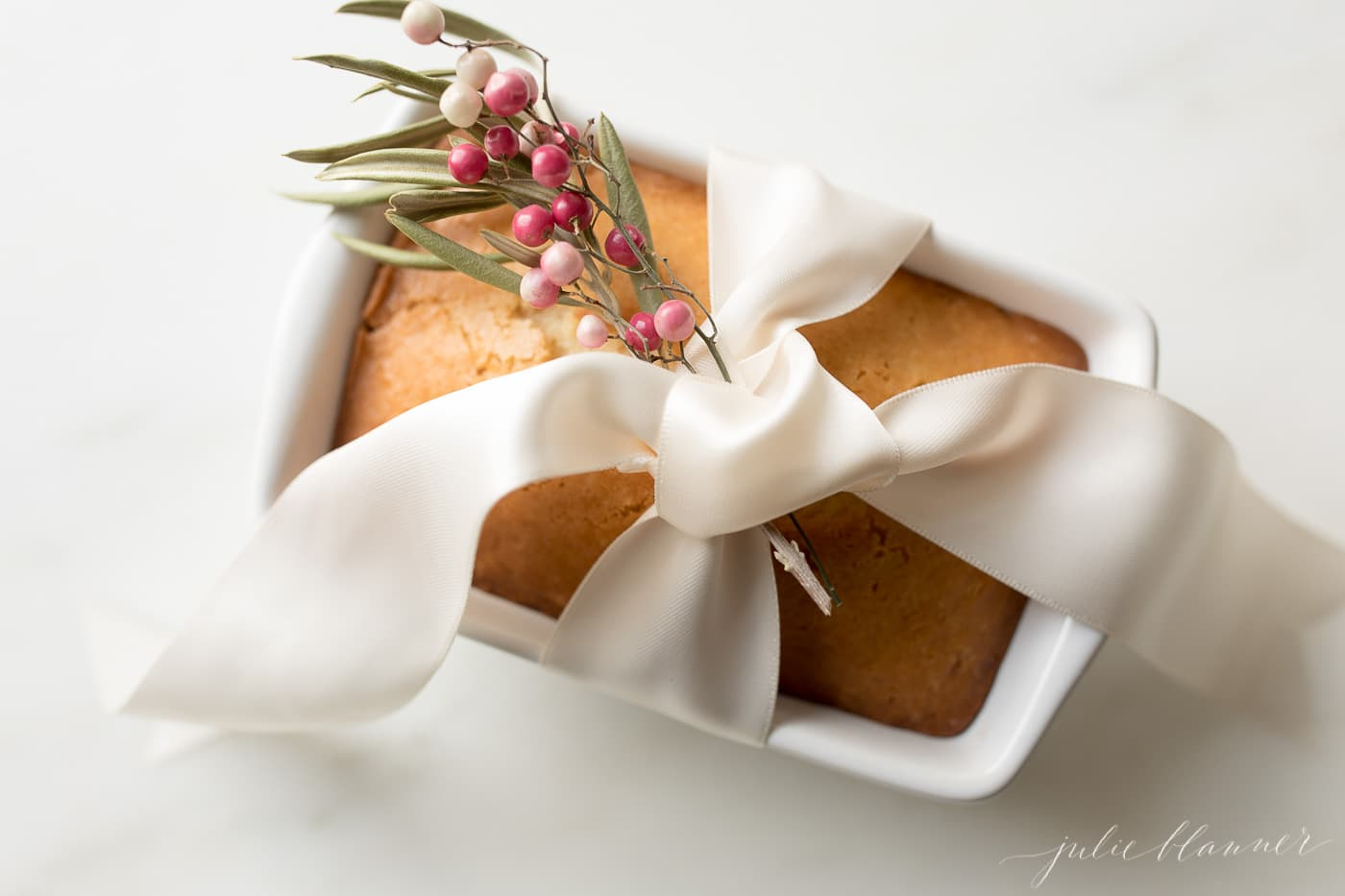 bread wrapped with ribbon