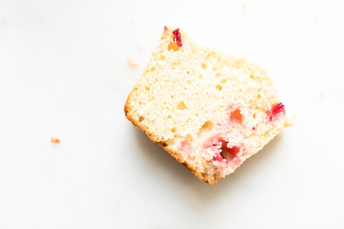 slice of cranberry bread