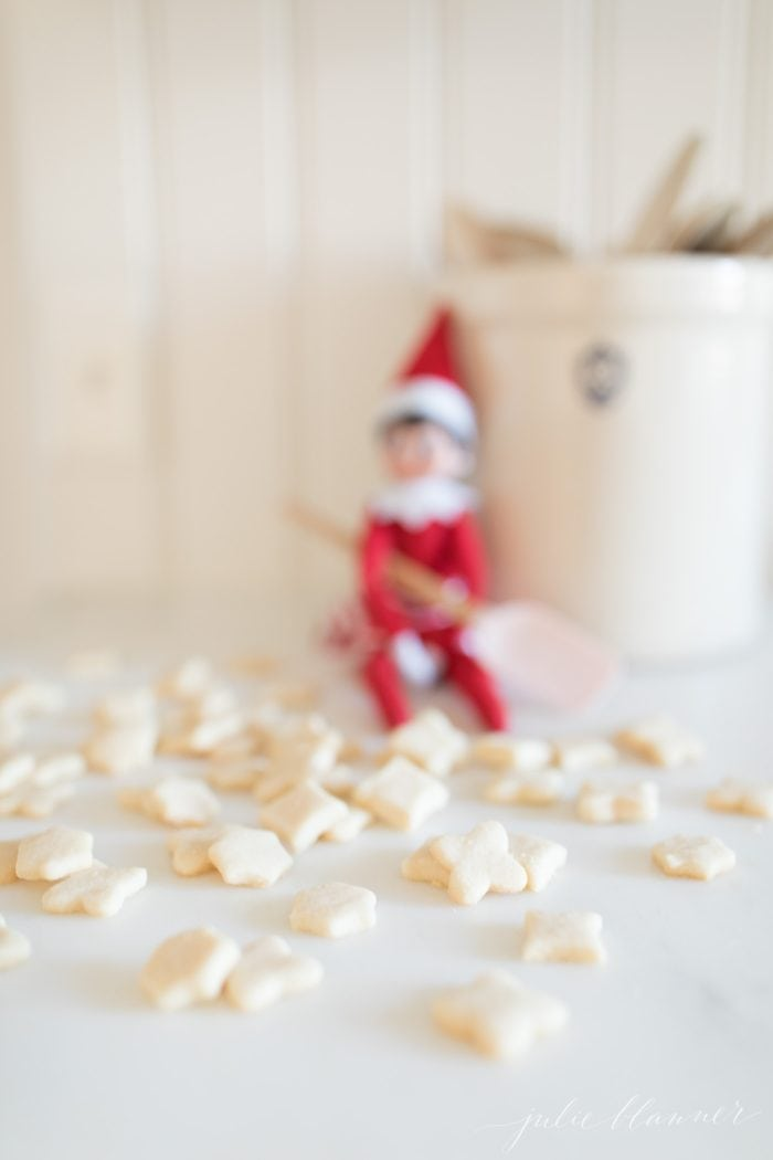 elf on the shelf with cookies