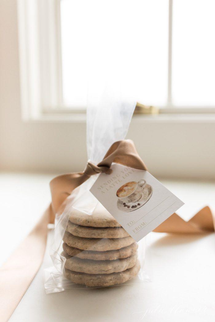 stack of espresso cookies